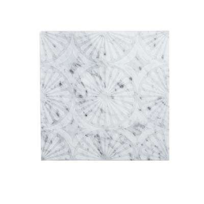Stone Lace 12 in. x 12 in. x 10 mm Marble Mosaic Tile