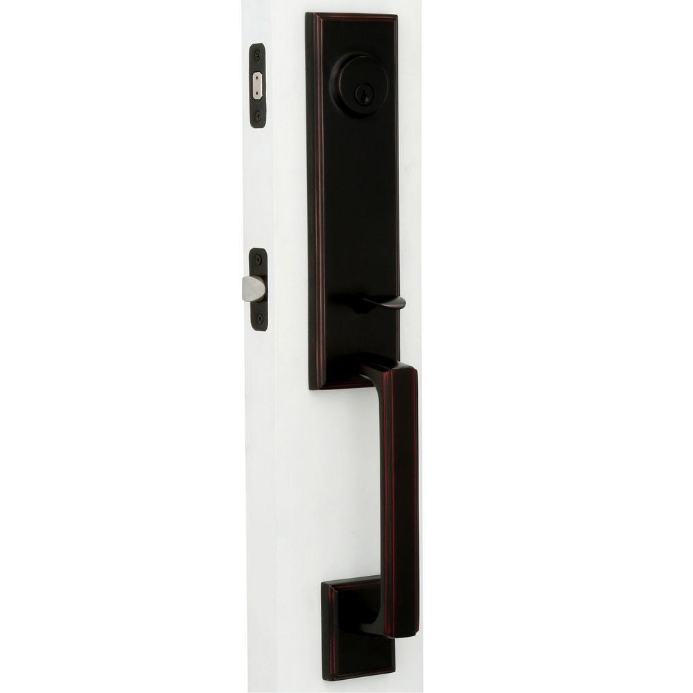 Elegance Single Cylinder Oil-Rubbed Bronze Woodward I Interconnect Door