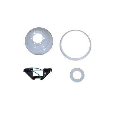Gazebo 52 in. White Ceiling Fan Replacement Mounting Bracket and Canopy Set