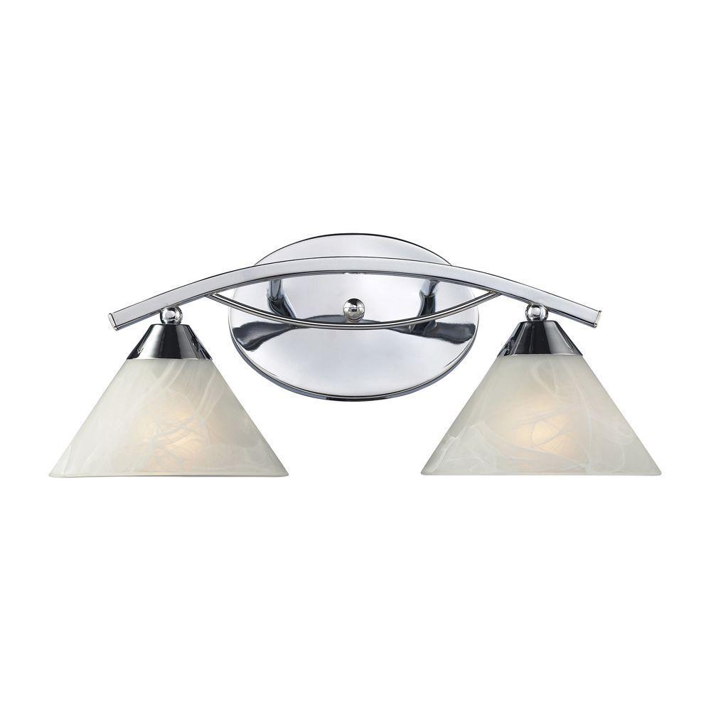Elysburg 2-Light Polished Chrome Wall Vanity Light
