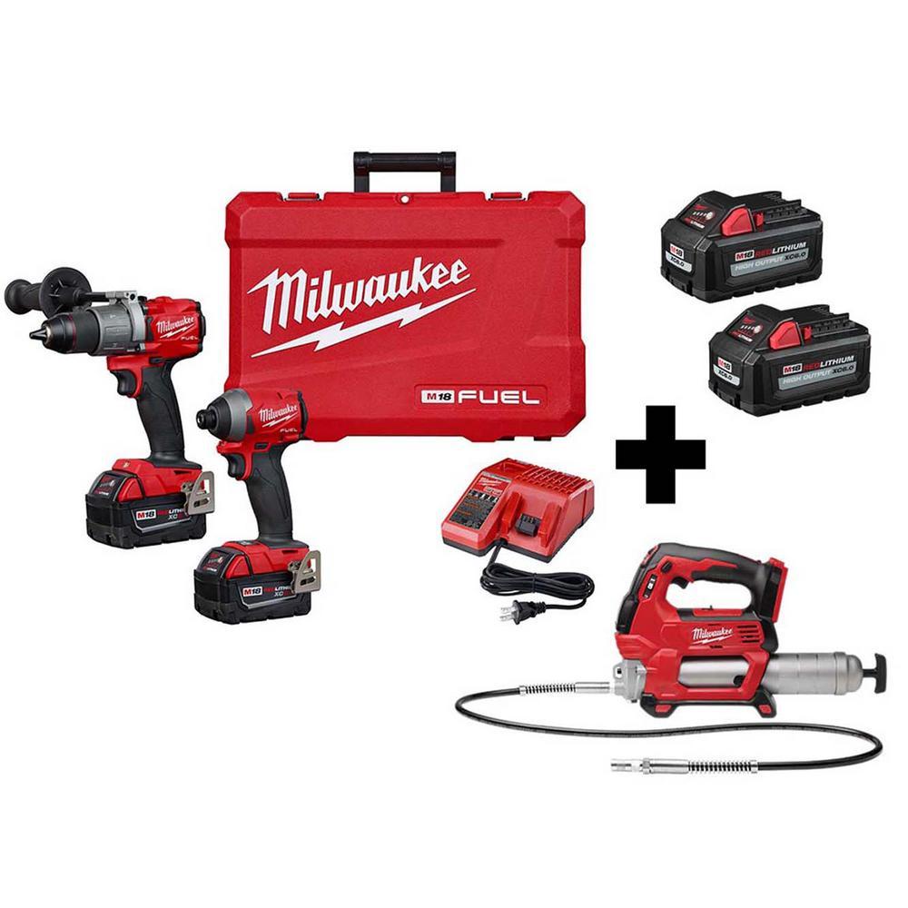 Milwaukee Grease Gun Power Tool Combo Kits Power Tools The Home Depot