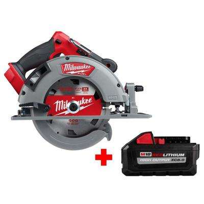 M18 FUEL 18-Volt Lithium-Ion Brushless Cordless 7-1/4 in. Circular Saw with Free HIGH OUTPUT XC 8.0 Ah Battery