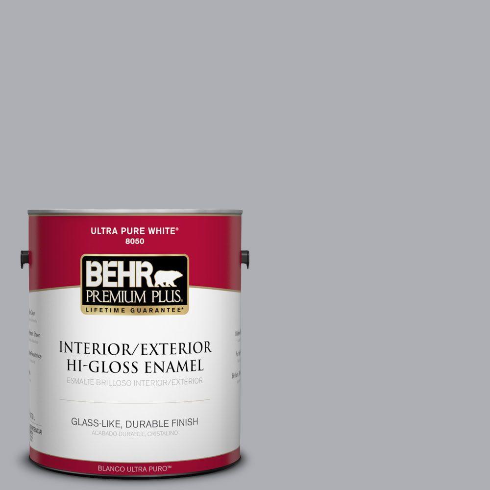 1-gal. #760E-3 Gray Timber Wolf Hi-Gloss Enamel Interior/Exterior Paint
