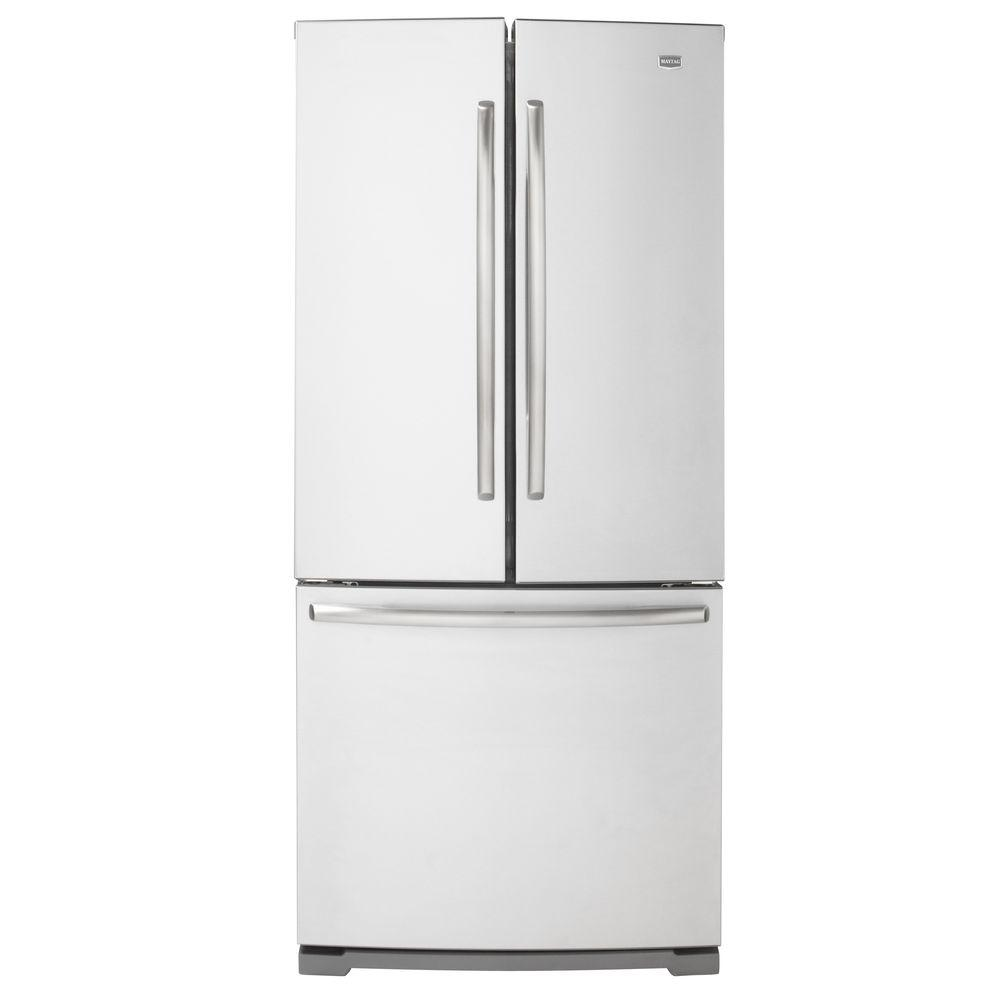Maytag 30 in. W 19.6 cu. ft. French Door Refrigerator in Monochromatic Stainless Steel