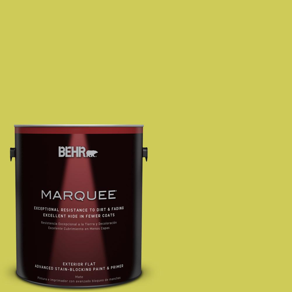 1-gal. #400B-5 Grape Green Flat Exterior Paint