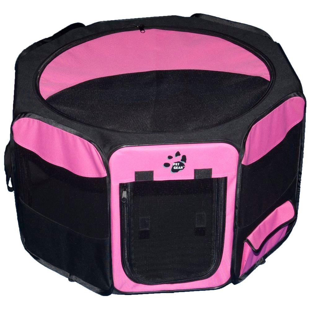 Pet Gear 36 in. L x 36 in. W x 21 in. H Octagon Pet Pen with Removable Top