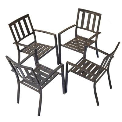 Metal Outdoor Dining Chair (4-Set)