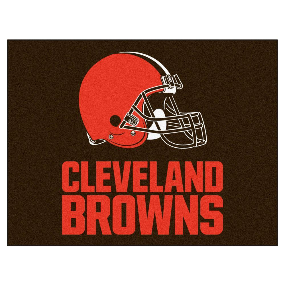4e8da4d50 FANMATS NFL Cleveland Browns Brown 3 ft. x 4 ft. Indoor All Star Area