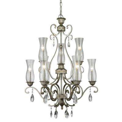 Havana 9-Light Antique Silver Chandelier
