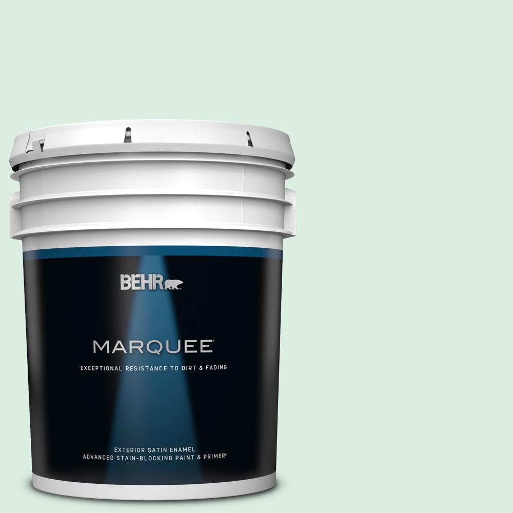 Behr Marquee 5 Gal M420 1 Sparkling Brook Satin Enamel Exterior Paint And Primer In One 945005 The Home Depot