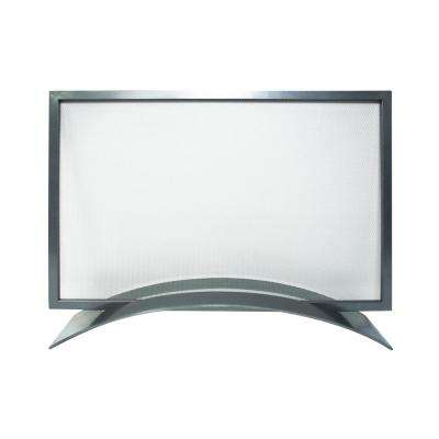 Orion Gun Metal Gray Steel 1-Panel Fireplace Screen