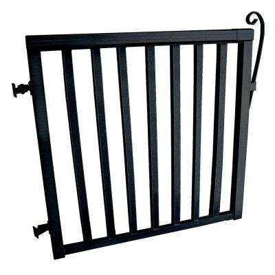 Aluminum Wide Picket Gate in Black