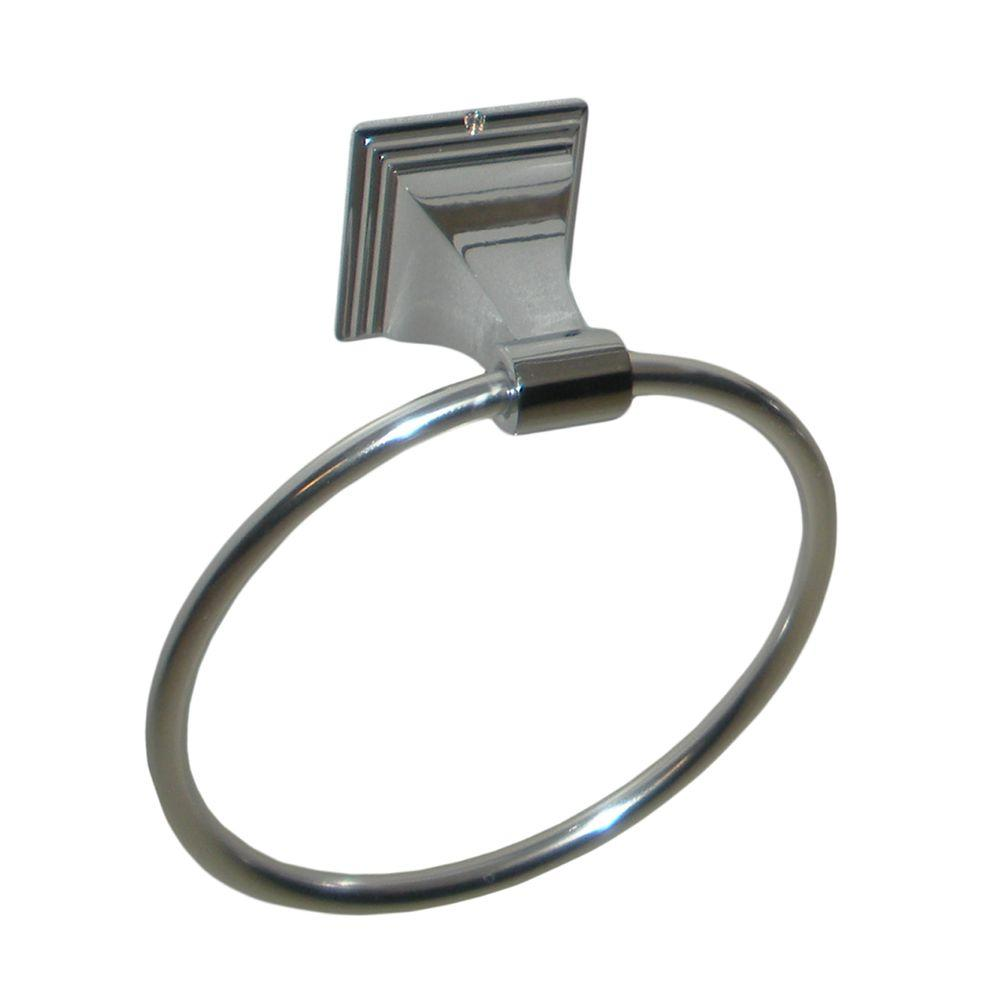 ARISTA Leonard Collection Towel Ring in Chrome