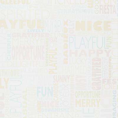 4 ft. x 8 ft. Laminate Sheet in Writable Surface HappyWords with Gloss Finish