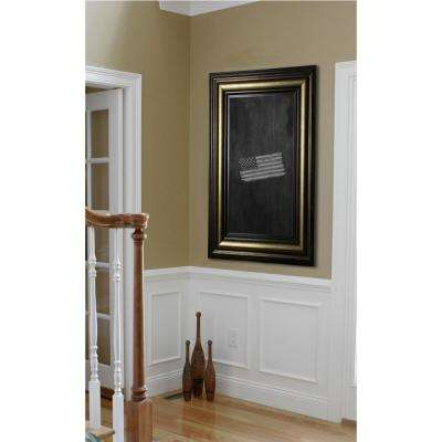57 in. x 33 in. Stepped Antiqued Blackboard/Chalkboard