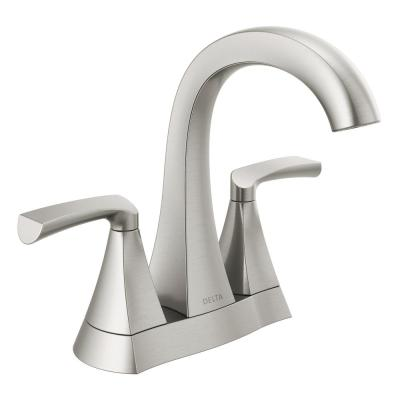 Pierce 4 in. Centerset 2-Handle Bathroom Faucet in SpotShield Brushed Nickel