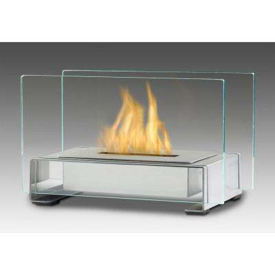 Toulouse 15 in. Ethanol Tabletop Fireplace in Stainless Steel