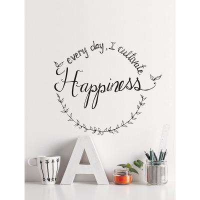 (24.2 in x 21.2 in) Cultivate Happiness Wall Decal