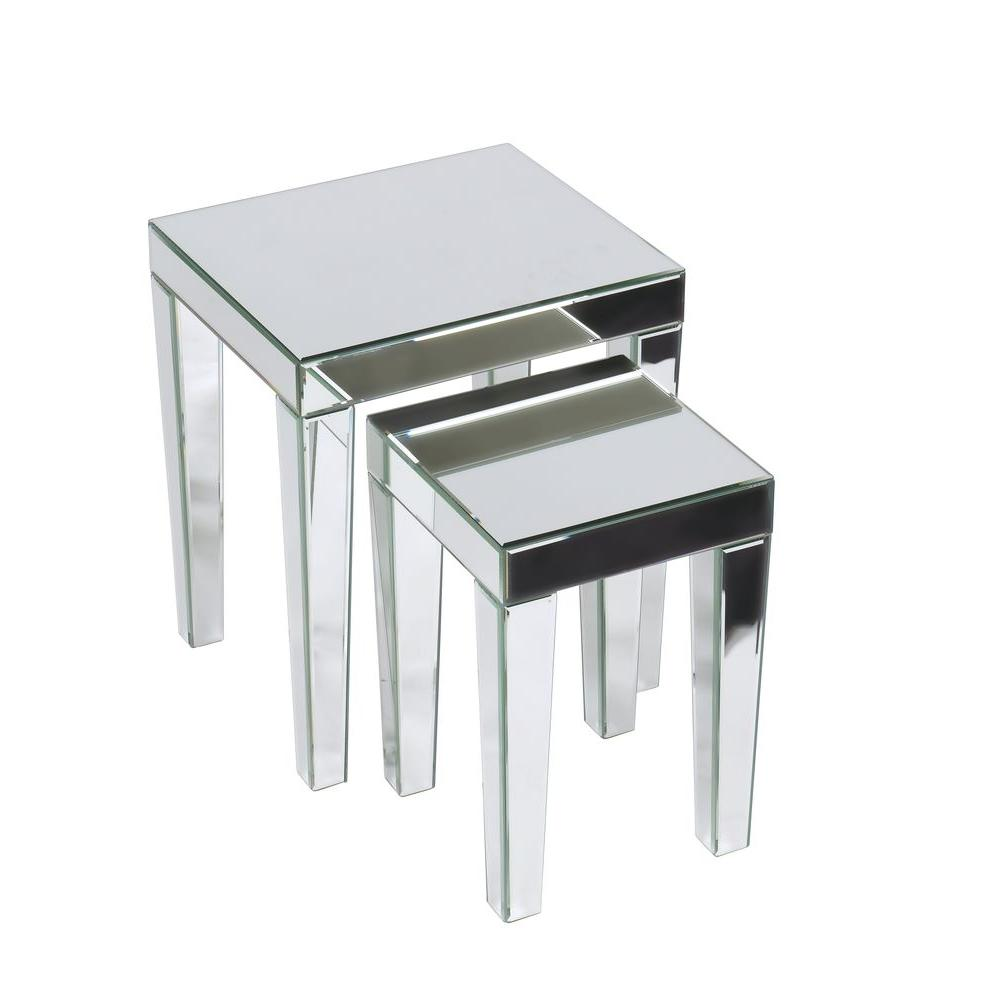 Ave six reflections silver mirror 2 piece nesting end table ref19 ave six reflections silver mirror 2 piece nesting end table geotapseo Choice Image