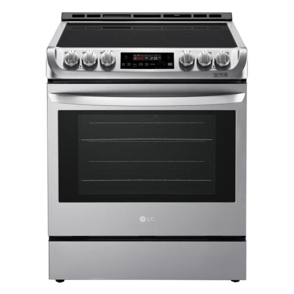 6.3 cu. ft. Slide-In Electric Range with ProBake Convection Oven and EasyClean in Stainless Steel