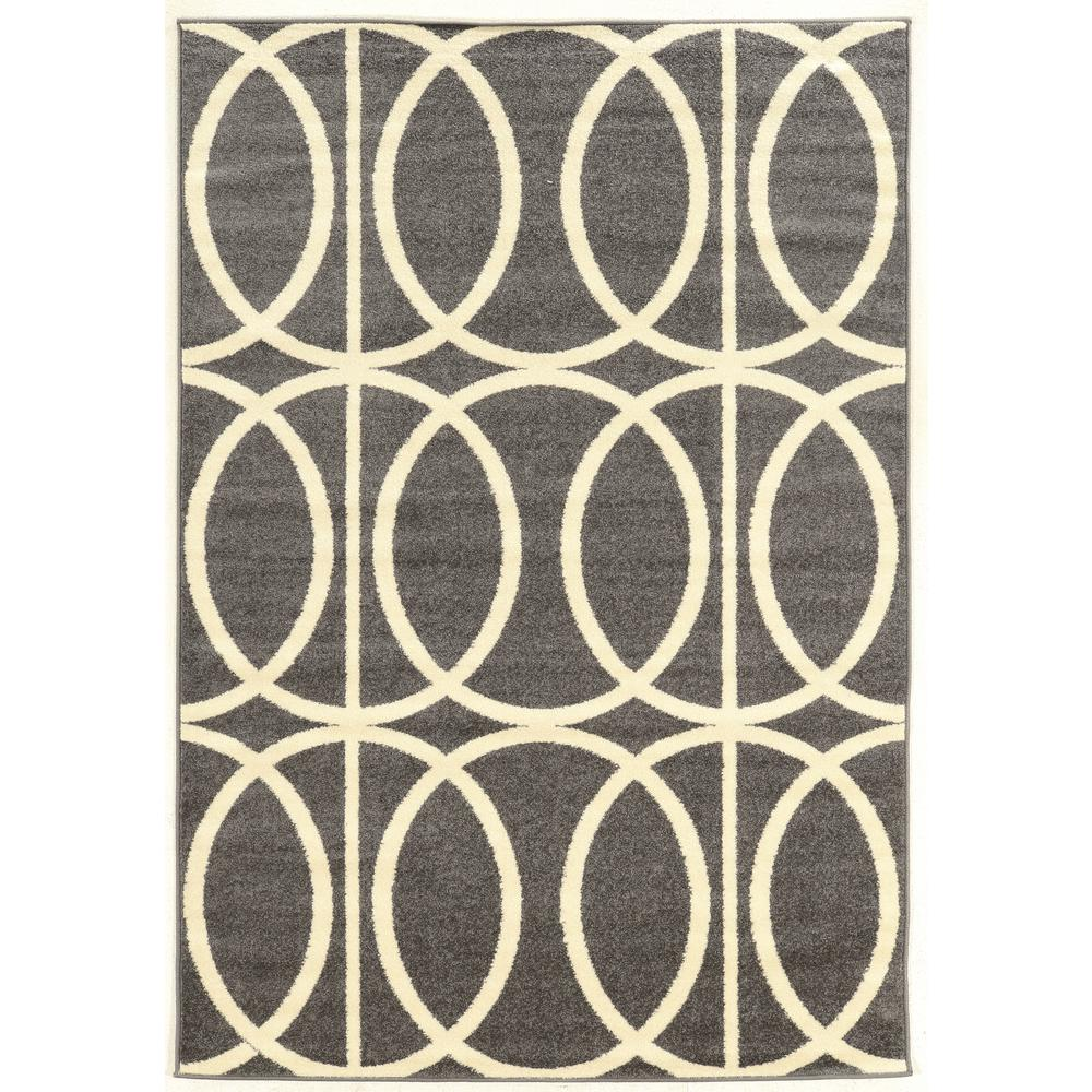 Marvelous Linon Home Decor Claremont Links Grey And Cream 5 Ft. X 7 Ft. Rectangle