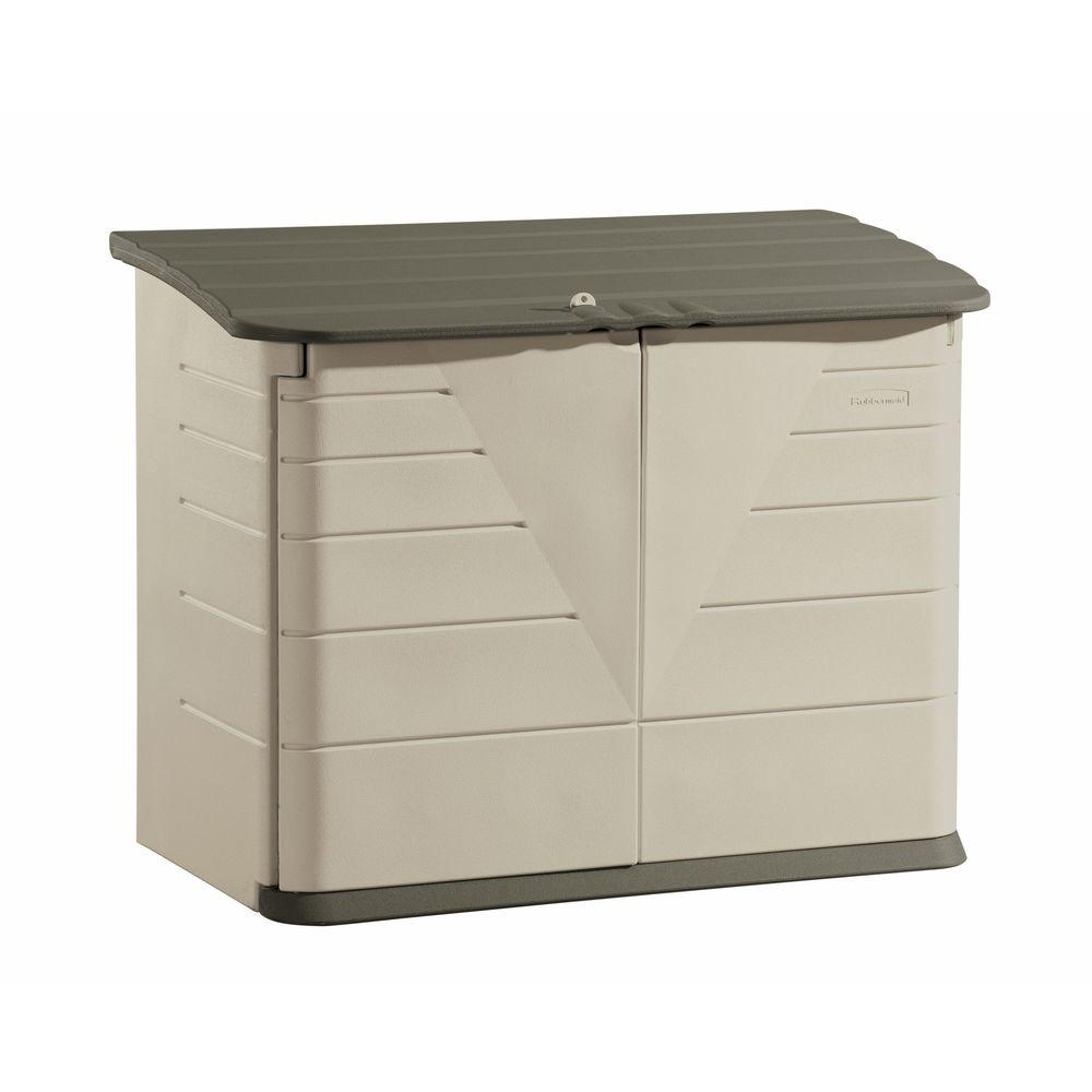 Rubbermaid 2 ft. 7 in. x 5 ft. Horizontal Resin Storage Shed