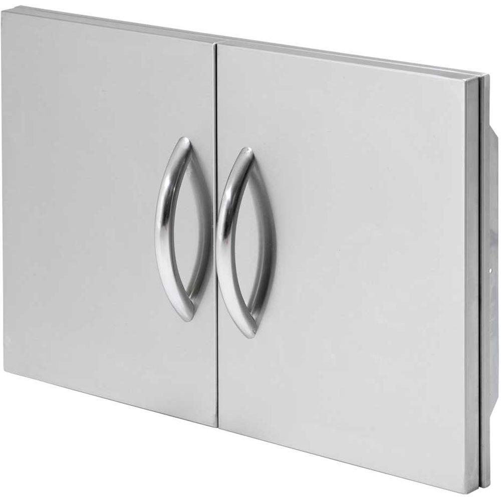 Stainless Steel Double Access Door  sc 1 st  The Home Depot : bbq doors black - pezcame.com