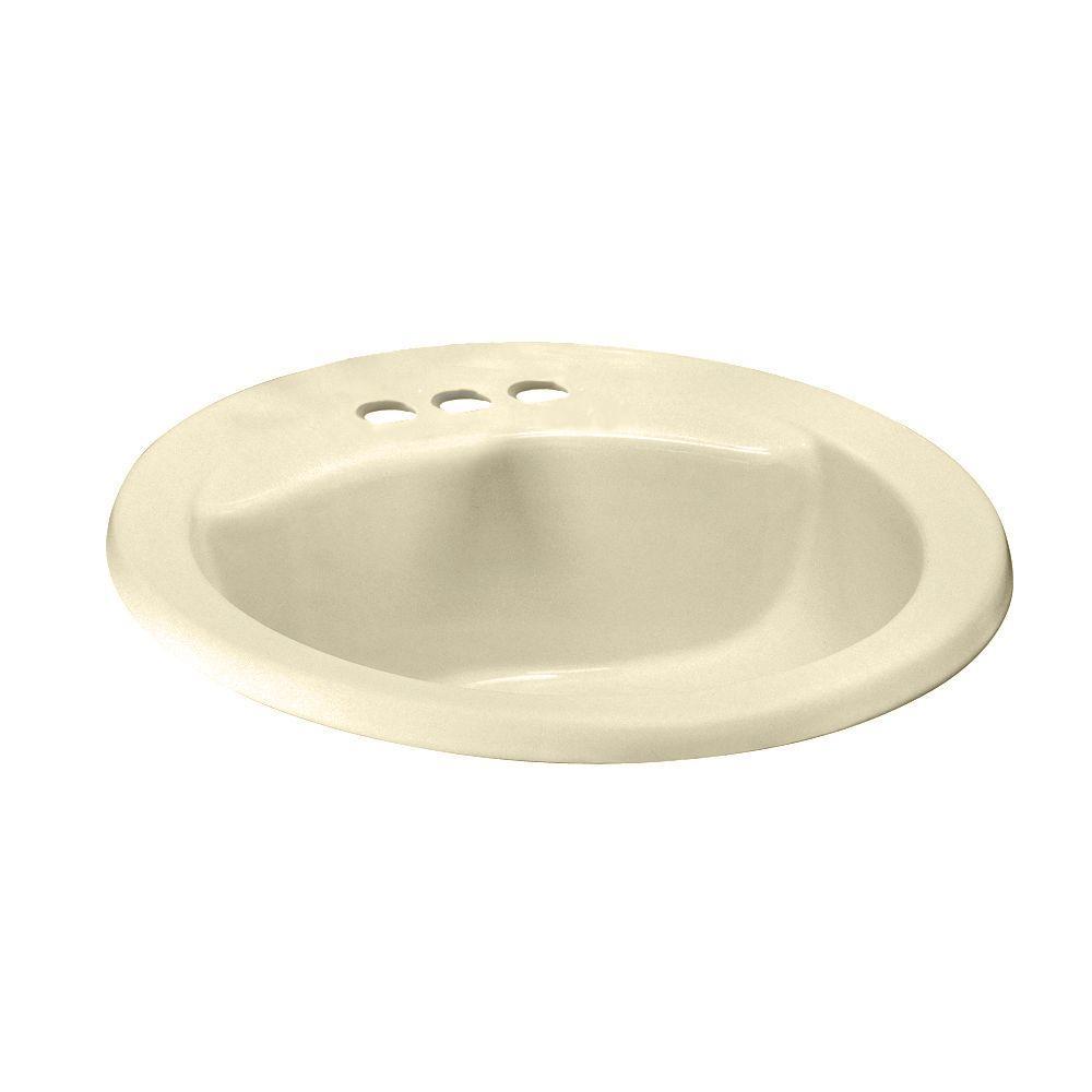 American Standard Cadet Oval EverClean Self-Rimming Bathroom Sink in Bone
