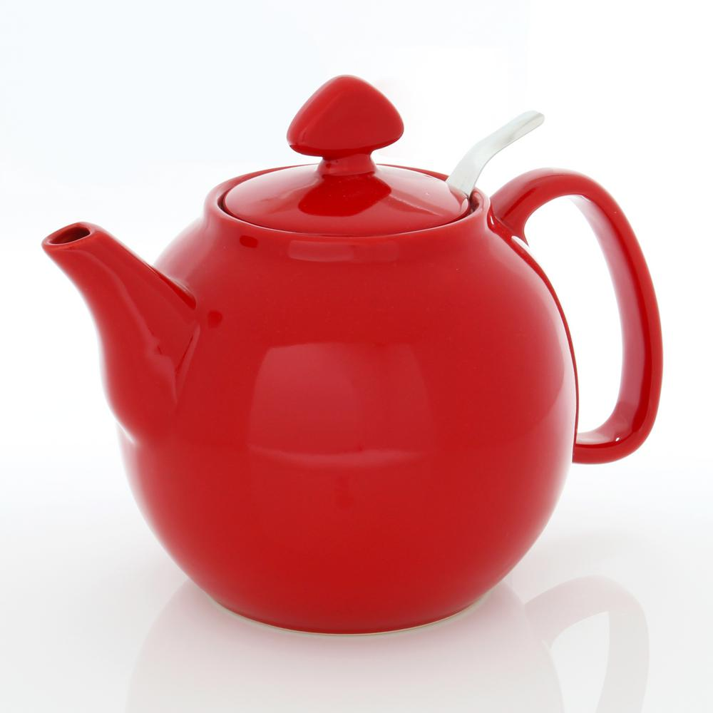 Chantal tea for four 6 cups true red teapot with stainless steel infuser 92 tp13 sli rr the - Chantal teapots ...