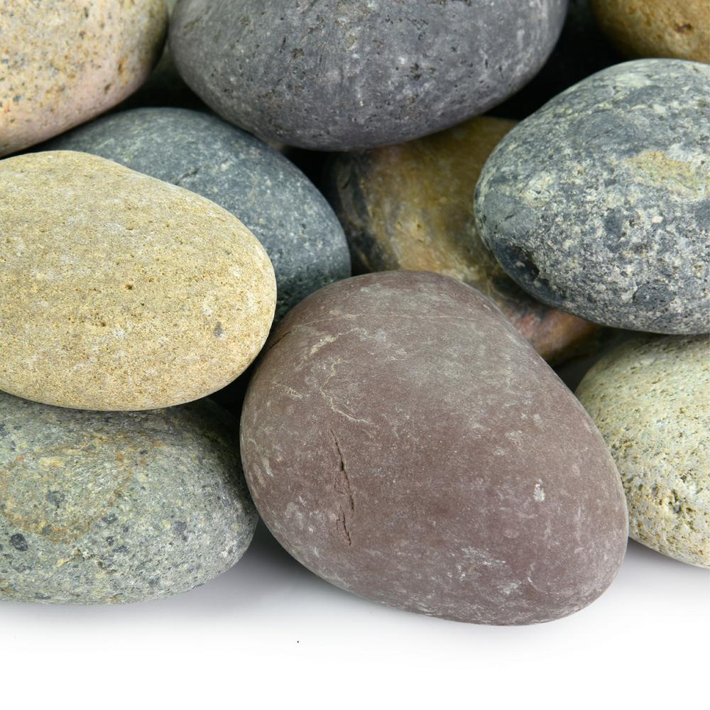 southwest boulder stone 20 lbs of mixed 3 in to 5 in mexican beach pebbles 02 0011 the. Black Bedroom Furniture Sets. Home Design Ideas