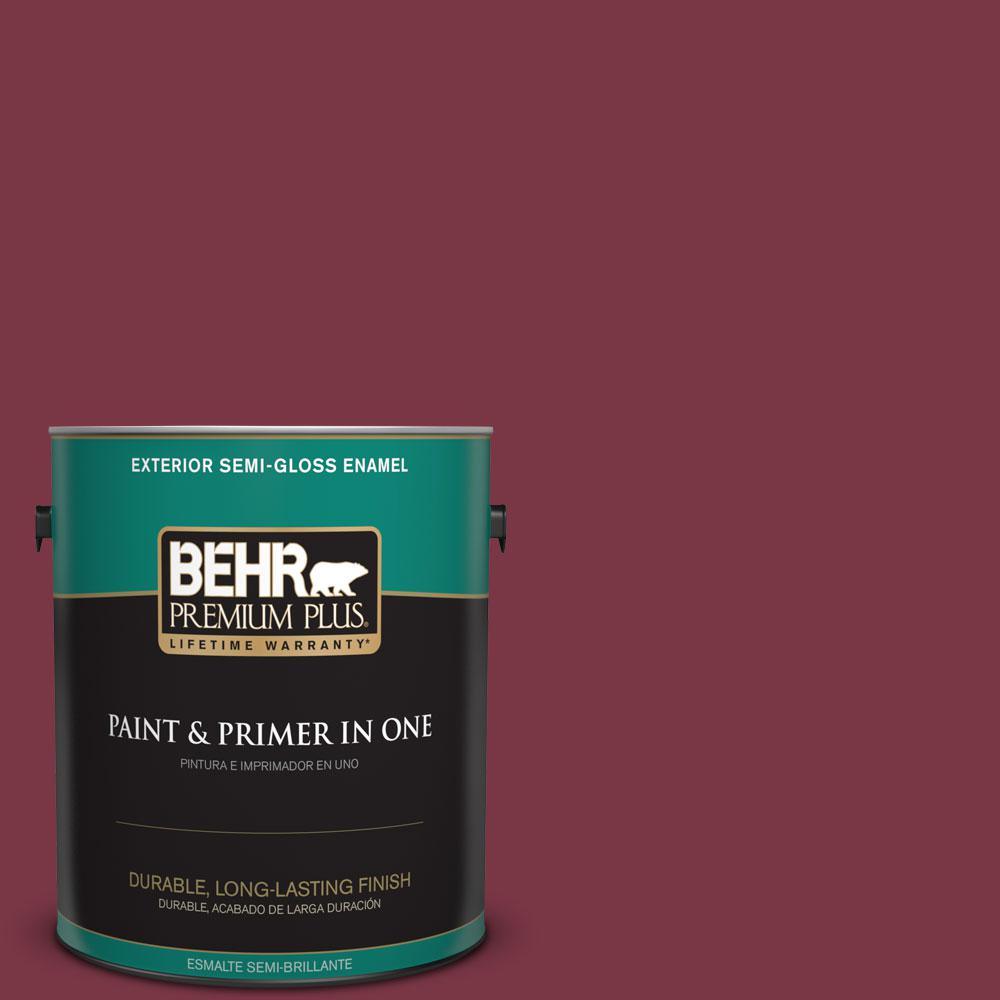 BEHR Premium Plus 1-gal. #S-H-110 Wine Tasting Semi-Gloss Enamel Exterior Paint