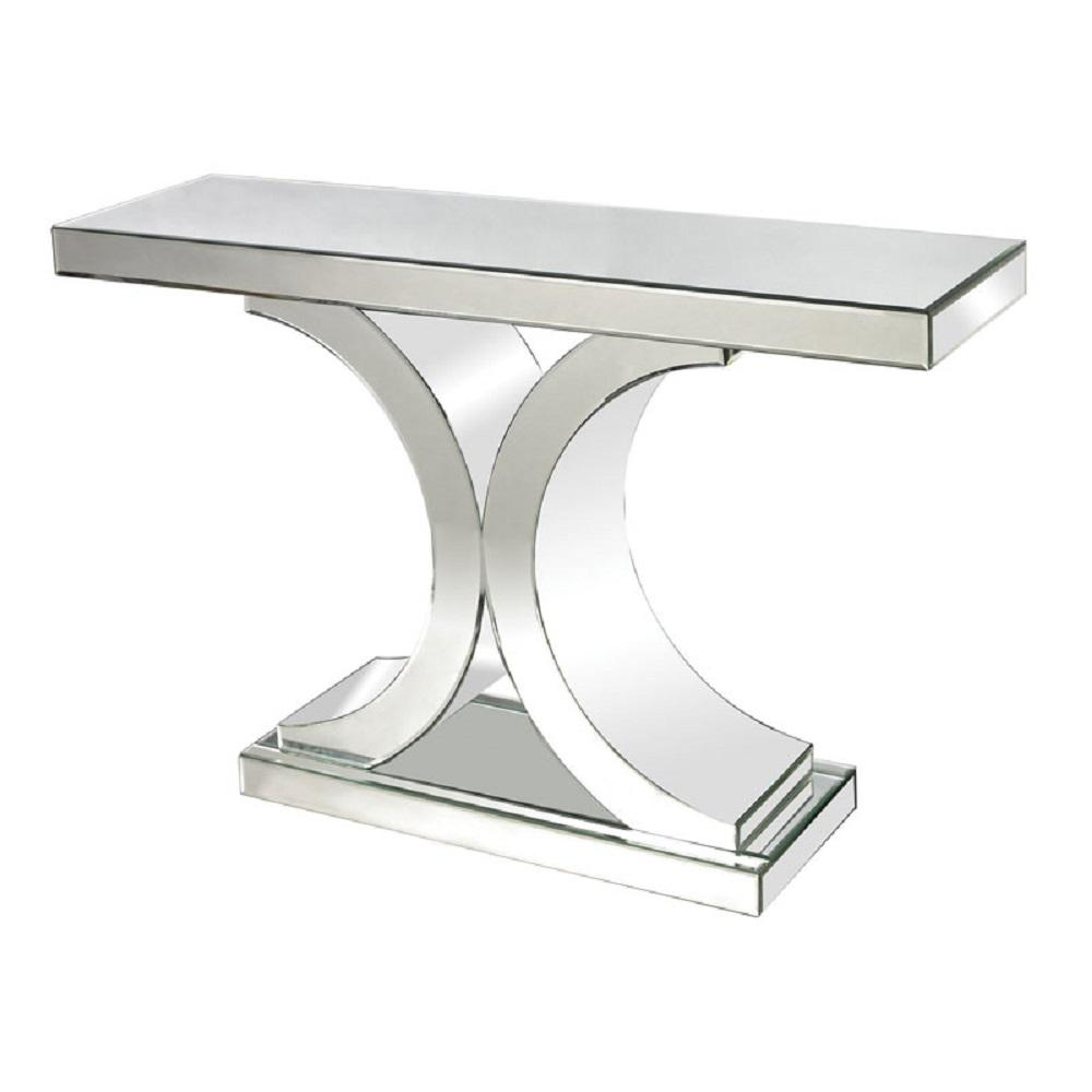 Console Table Clear Mirrored