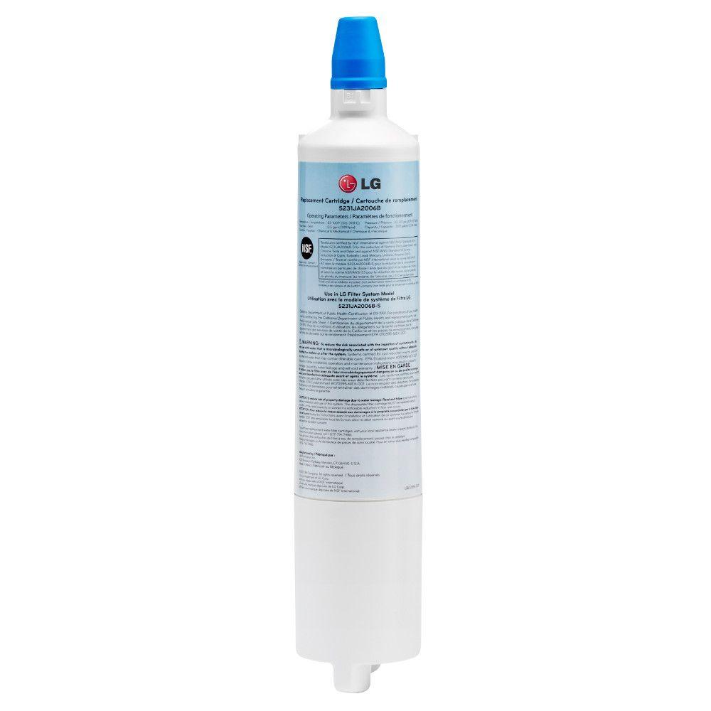 LG Electronics Refrigerator Water Filter Ensure your drinking water and ice stays fresh and clean with this LG Electronics Water Filter for select LG refrigerators. Replace filter every 6 months for best performance. It is easy to change, too.