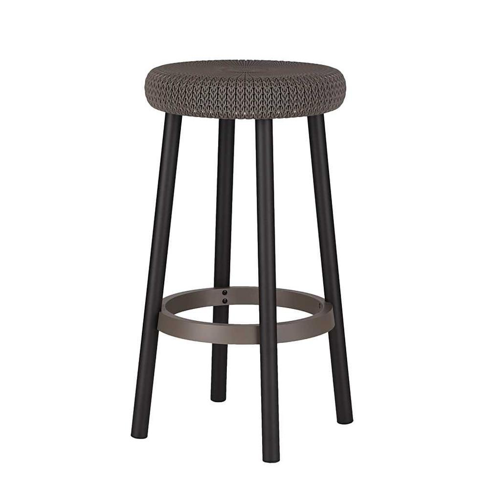 Phenomenal Keter Cozy Resin Plastic Outdoor Bar Stool In Brown 2 Pack Bralicious Painted Fabric Chair Ideas Braliciousco