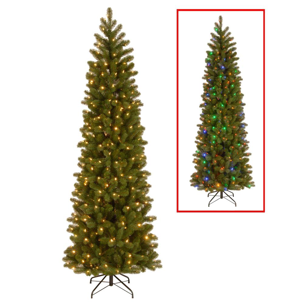 national tree company 75 ft downswept douglas pencil slim fir artificial christmas tree with dual