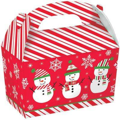 6.25 in. x 6 in. x 3.75 in. Snowman Gable Box (5-Count, 3-Pack)