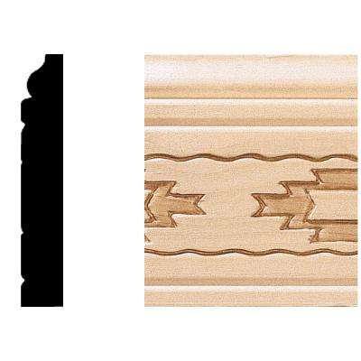 1/2 in. x 3 in. x 8 ft. Hardwood Base Moulding/Casing