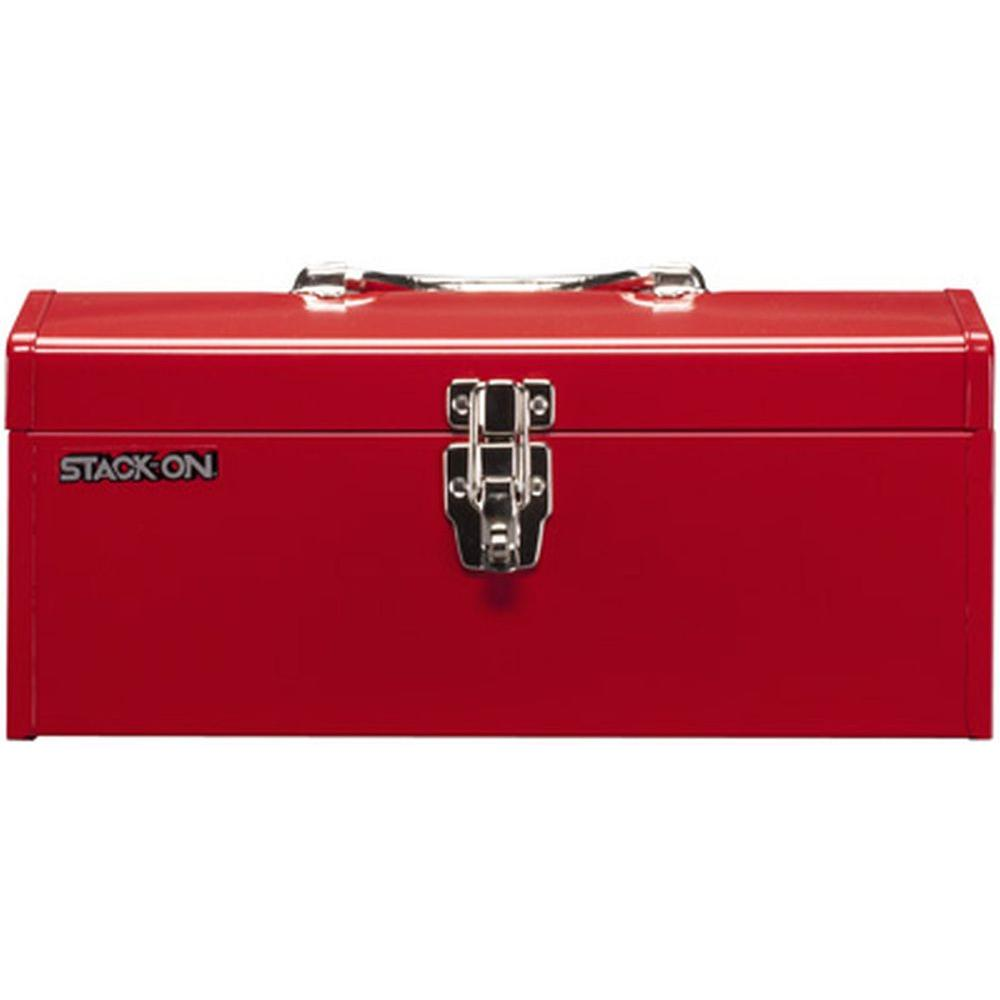 Stack-On 16 in. Hip Roof Steel Tool Box in Red-R-516-2 - The Home ...