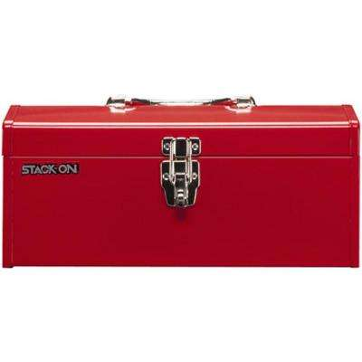 16 in. Hip Roof Steel Tool Box in Red