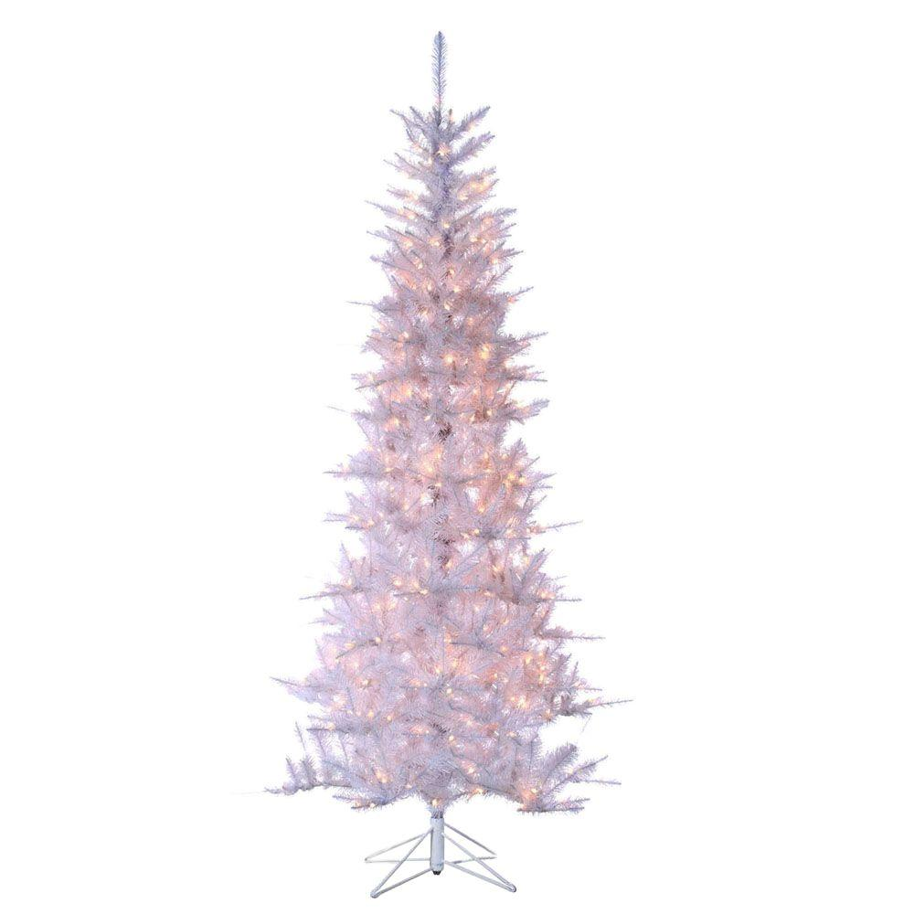 2 Ft White Christmas Tree: Sterling 7.5 Ft. Pre-Lit Tiffany White Tinsel Artificial