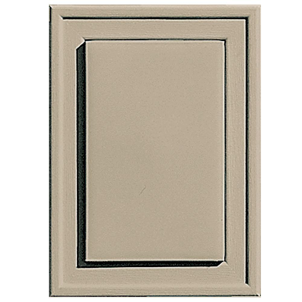 Builders Edge 4.5 in. x 6.3125 in. #085 Clay Raised Mini Mounting Block