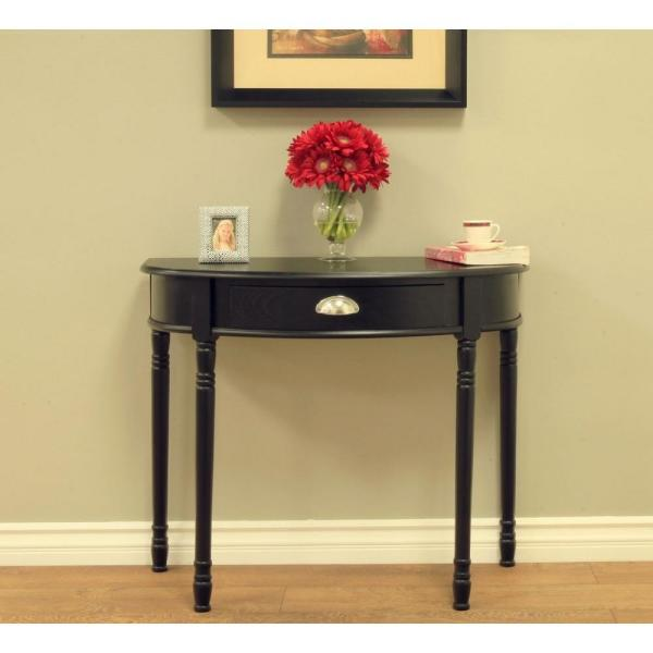 MegaHome Black Storage Console Table