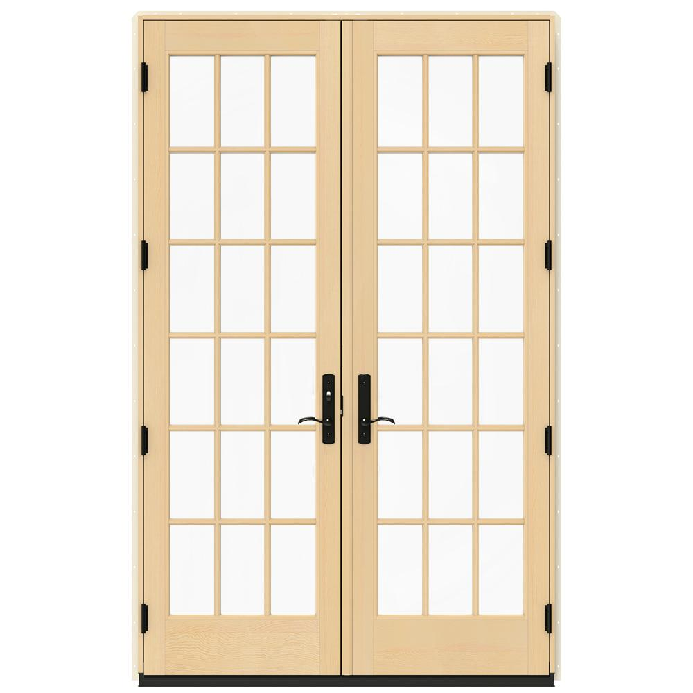 jeld wen 60 in x 96 in w 4500 hartford green clad - 60 Patio Door