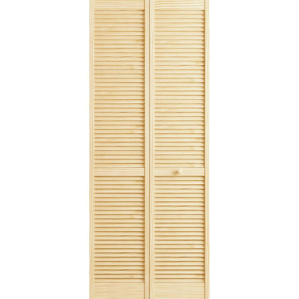 Veranda 30 in. x 78 in. Raw Louver-Louver Pine Interior Closet Bi  sc 1 st  Home Depot & Veranda 30 in. x 78 in. Raw Louver-Louver Pine Interior Closet Bi ...
