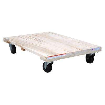 24 in. x 36 in. 1,200 lb. Solid Deck Hardwood Dolly