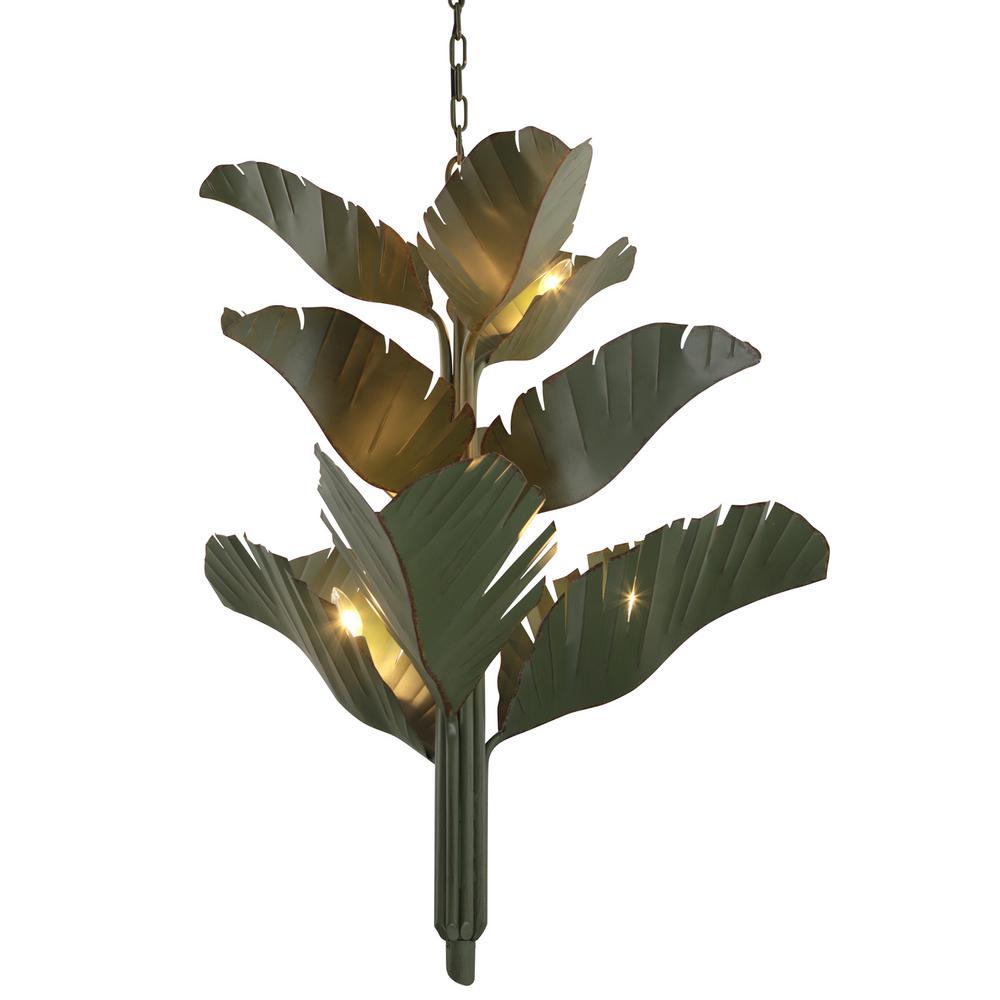 Banana Leaf 9-Light Banana Leaf Candlestick Chandelier