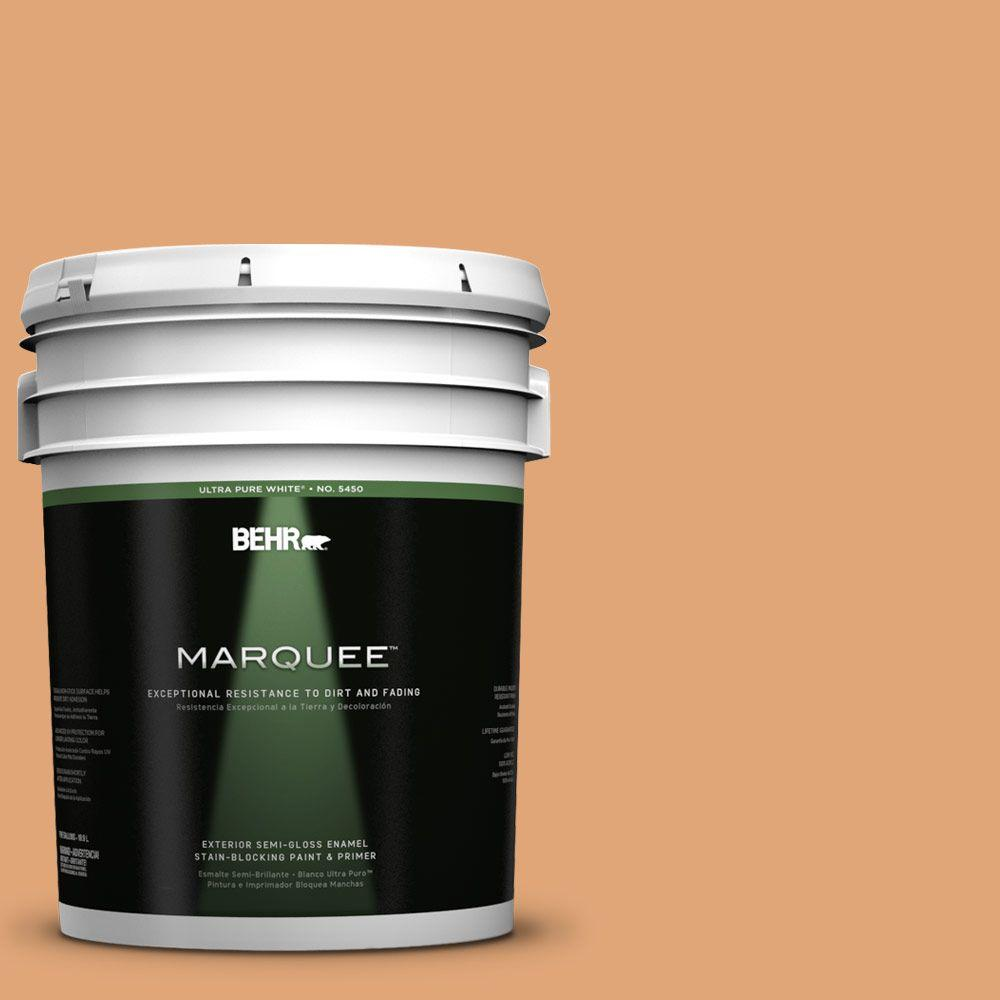 BEHR MARQUEE 5-gal. #280D-4 Caramel Sundae Semi-Gloss Enamel Exterior Paint