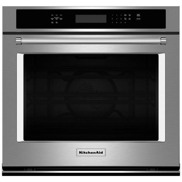 30 in. Single Electric Wall Oven Self-Cleaning with Convection in Stainless Steel