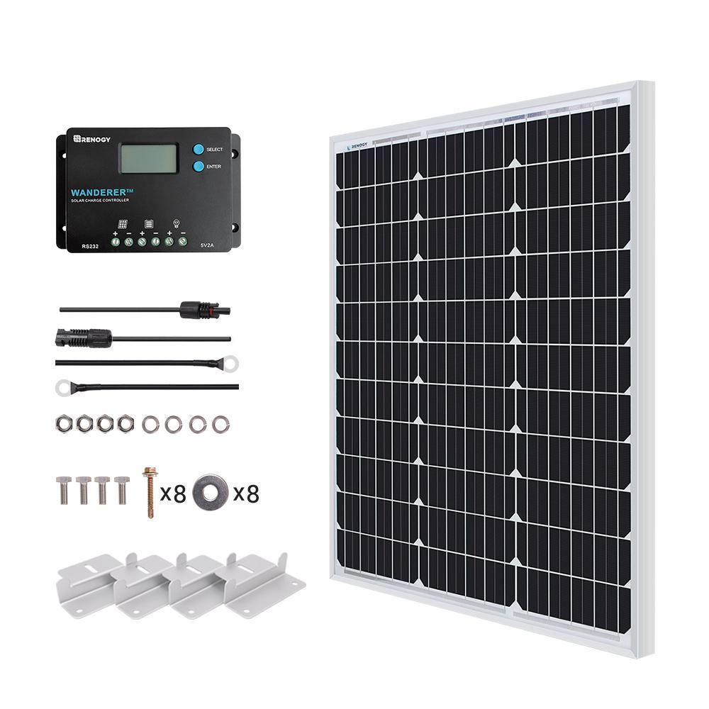 Renogy 50 Watt 12-Volt Monocrystalline Solar Panel Starter Kit