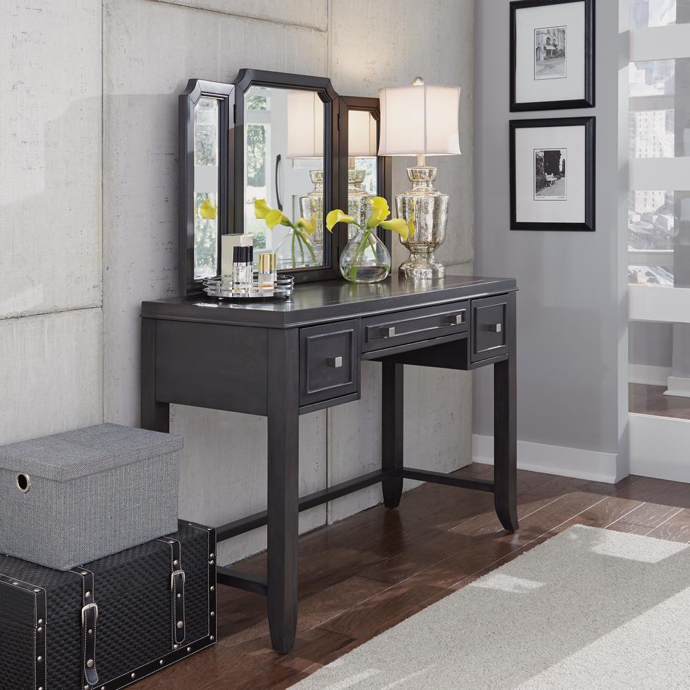 5th Avenue Gray Vanity And Mirror